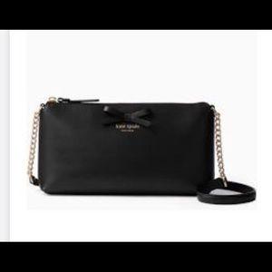 Kate spade black leather purse NWT